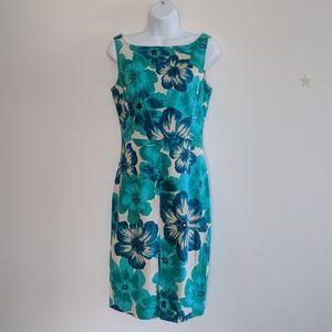 Express floral green/blue dress